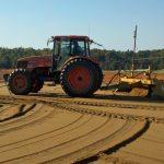 laser grading tractor