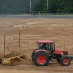 laser grade Lanier HS Football Field